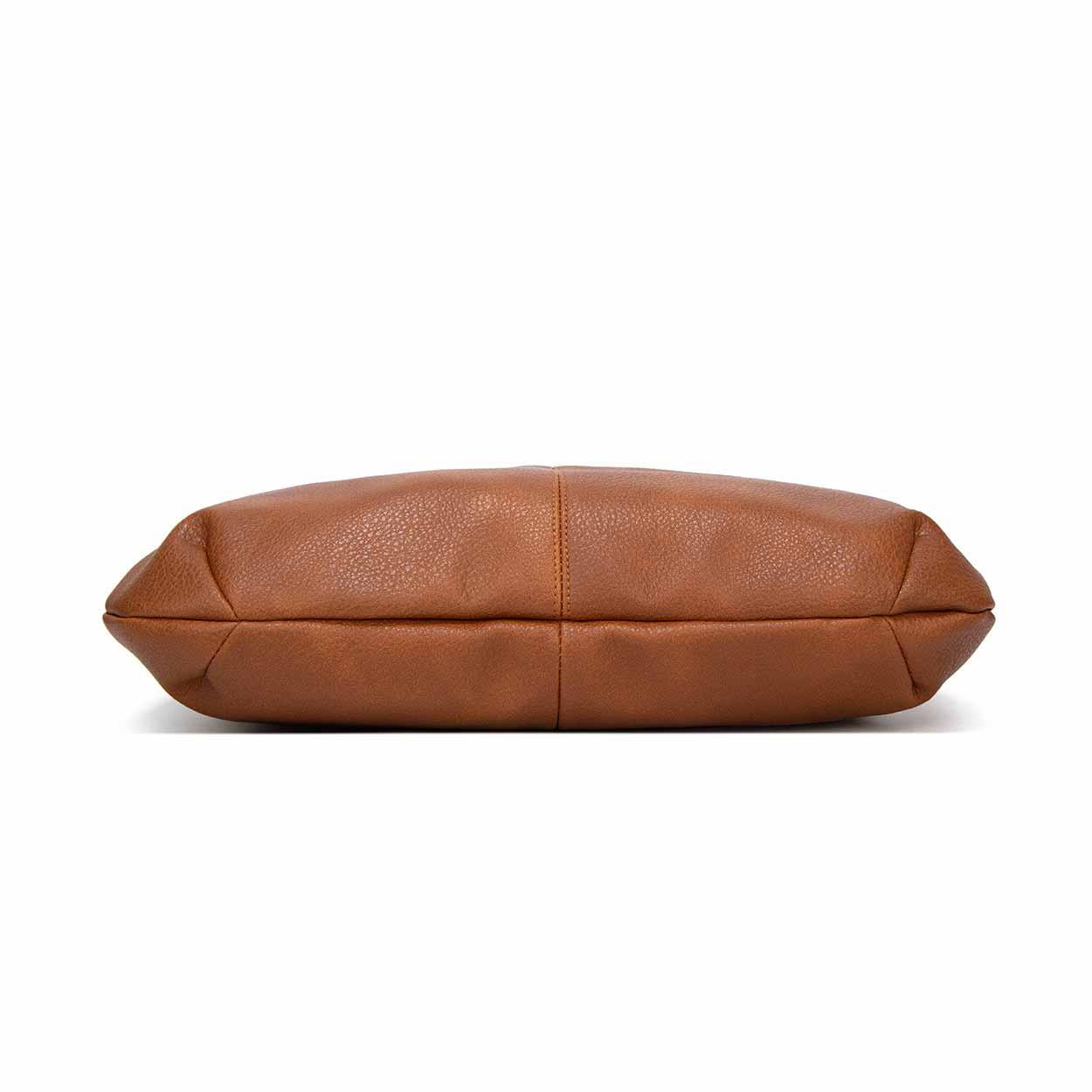 handväska brunt skinn
