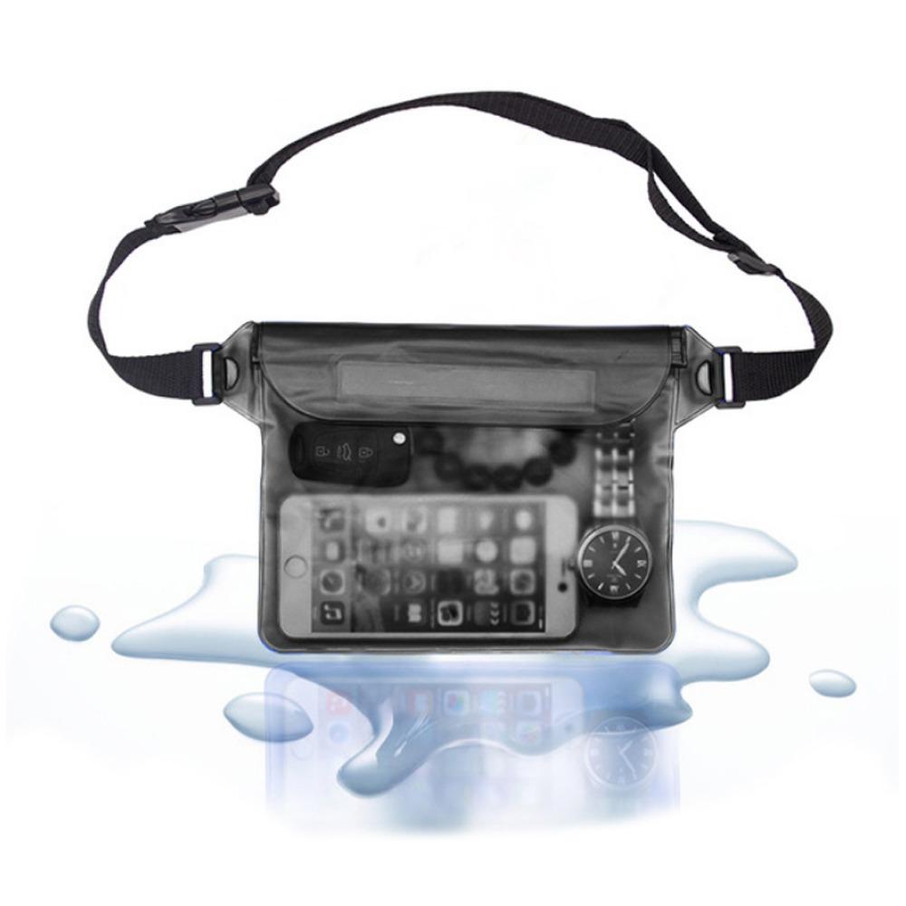 Vattentät Fodral Väska för Mobiltelefon Universal Mobilväska svart